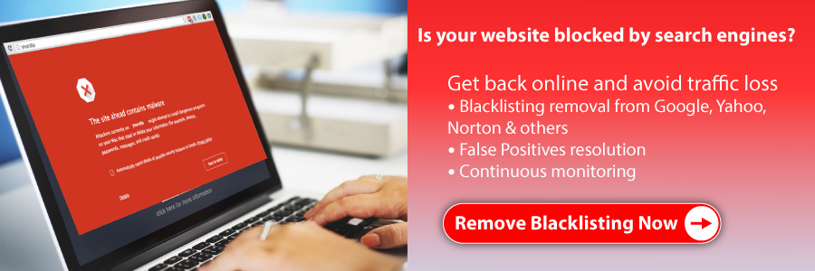 Websites blacklisted by Google, Yahoo, Norton and others